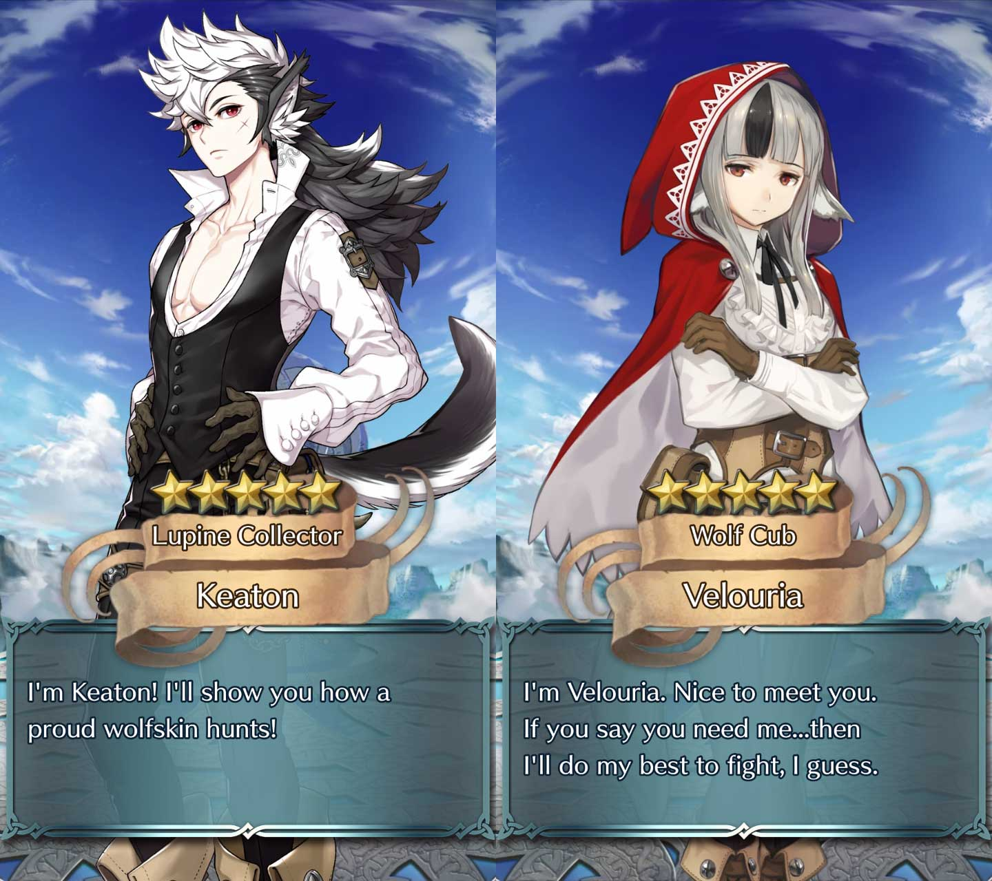 Pulled Keaton and Velouria on Fire Emblem Heroes